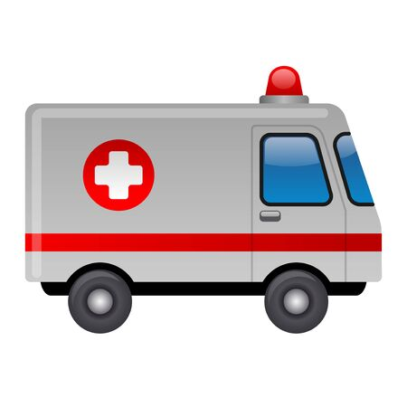 illustration of the ambulance emergency car with a siren