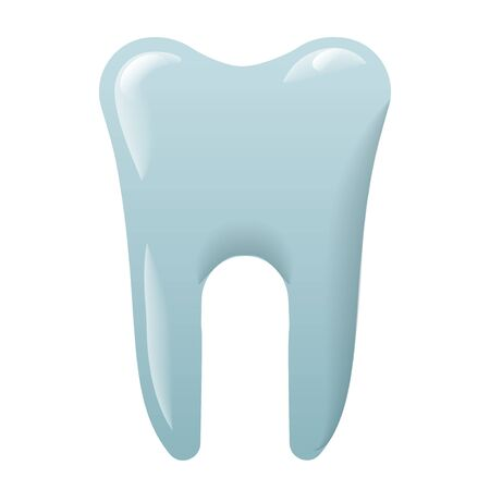 illustration of the tooth icon on the white background Illustration