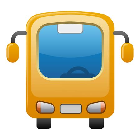 illustration of the bus glossy icon on the white background