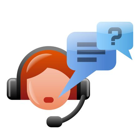 illustration of the service support operator speaking icon