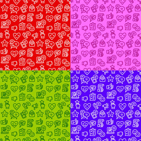illustration of the relationship and feedback colorful seamless pattern