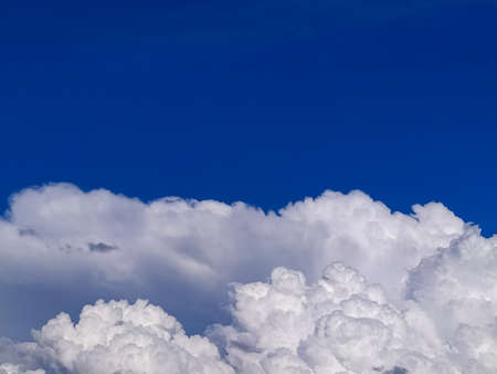 photo image of the blue sky with a big clouds in the daylight