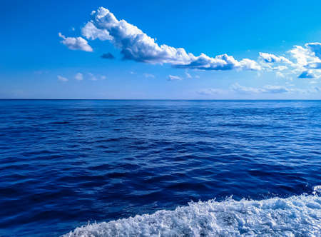 photo image of the mediterranean sea in the middle of the day