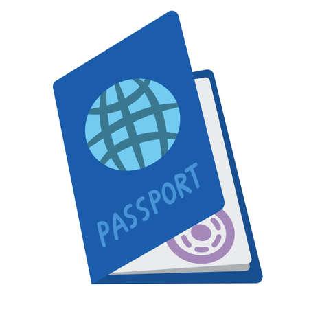 Passport icon isolated on white background. Flat design. Vector stock illustration.