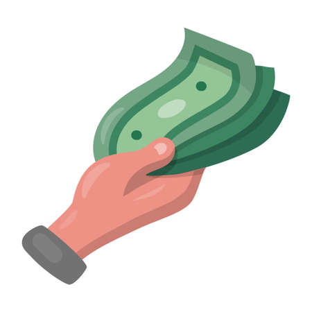 illustration of the icon of hand holding the money