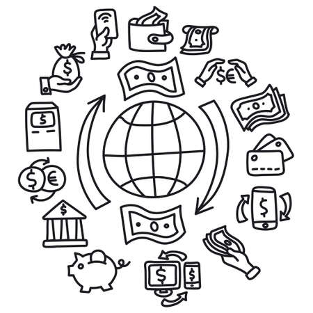 illustration of the finance and banking concept icon