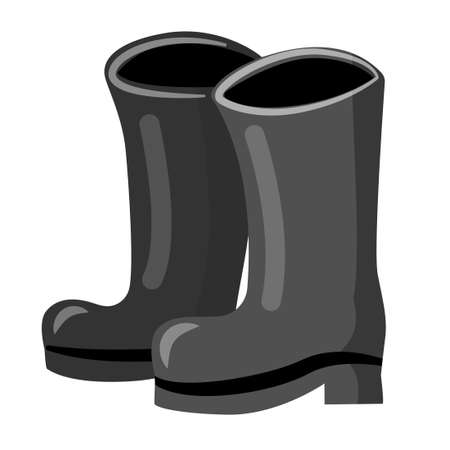 Rubber boots cartoon icon isolated on white background.