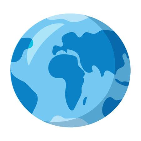 illustration of the cartoon earth globe concept icon