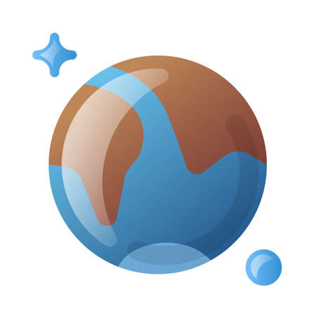 illustration of the earth icon for for web,landing page, stickers, and background