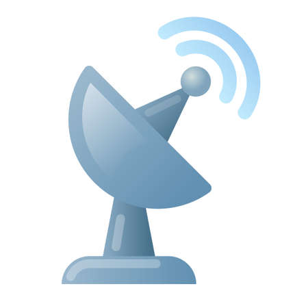 illustration of the astrology antenna icon on the white background