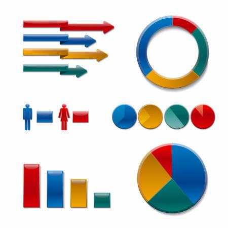 Diagram chart graph elements business infographic flow sheet diagram data template