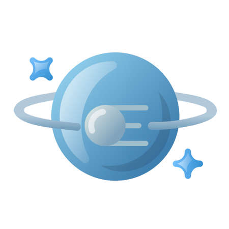 illustration of planet and sputnik icon for for web,landing page, stickers, and background