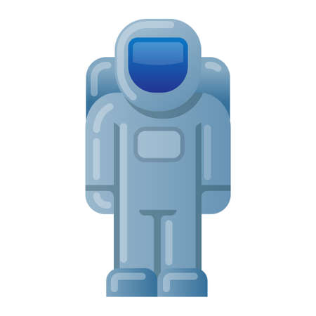 illustration of the astronaut in the space suit icon 矢量图像