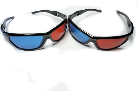 Red-blue glasses to see the stereo movies Stock Photo - 15661357