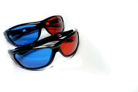 Red-blue glasses to see the stereo movies Stock Photo - 15661356