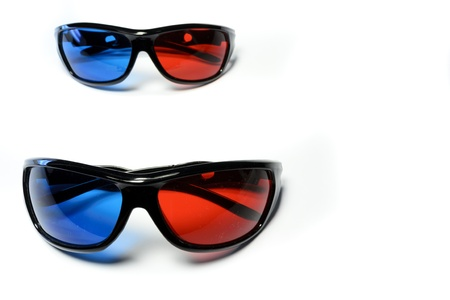 Red-blue glasses to see the stereo movies Stock Photo - 15431971