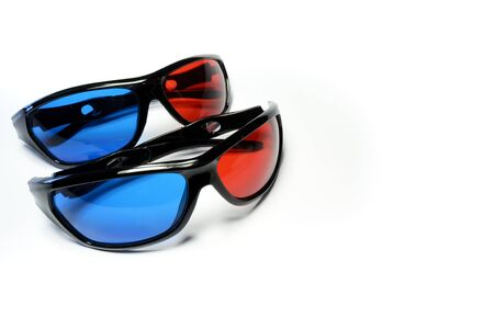 Red-blue glasses to see the stereo movies Stock Photo - 15431964