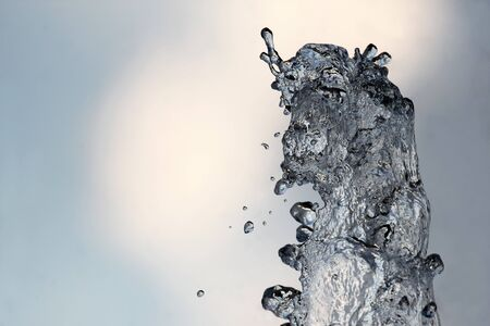 gush: drops of the fountain in the sky