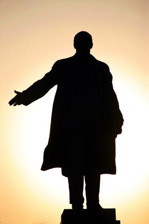 lenin: the monument to Lenin in Kharkov, Ukraine