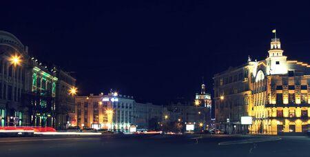 kharkov: the center of the city at night Kharkov, Ukraine