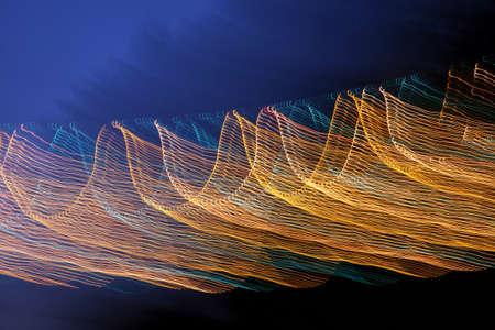 light wave: notte astratta linea d'onda della luce Archivio Fotografico