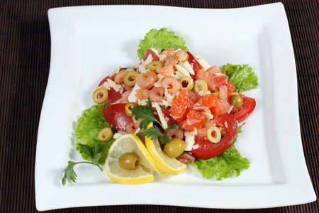 peces: salad with meat and vegetables