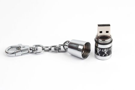 usb flash memory: usb flash memory device in a hermetically sealed metal case