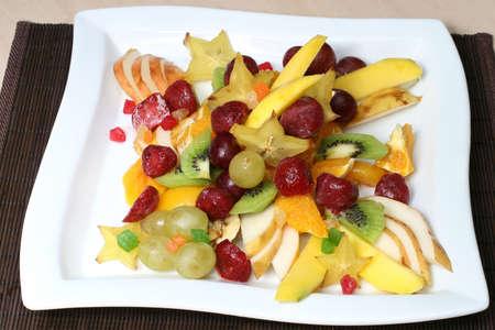 ensalada de verduras: vitaminas y ensalada de fruta nutritiva