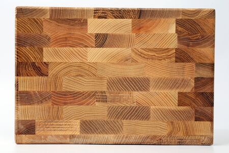 parquet floor layer: wooden boards of different layers of wood on a white background Stock Photo
