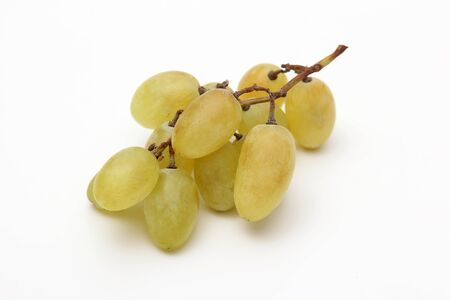 garnets: bunch of grapes on white background