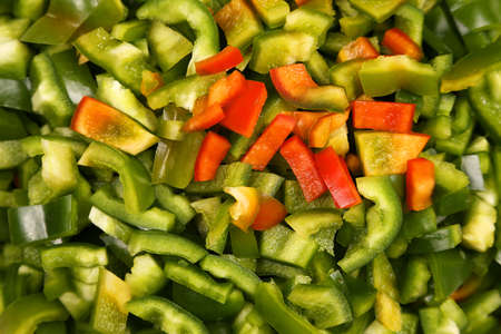 finely chopped sweet pepper closeup  Stock Photo