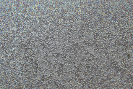 texture frosty patterns on the window close-up  Stock Photo