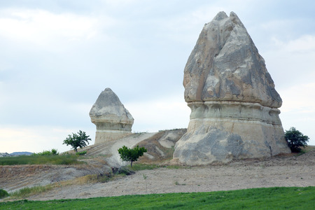Volcanic rocks in Cappadocia, Turkey