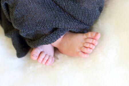 feet of a sleeping newborn baby close-up Reklamní fotografie