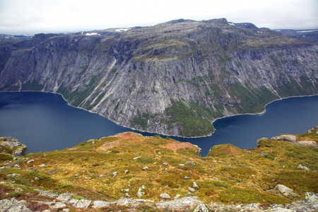 Lake in the language of the Troll. Norway Stock Photo