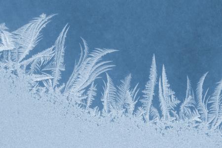 ice patterns on frozen window Reklamní fotografie