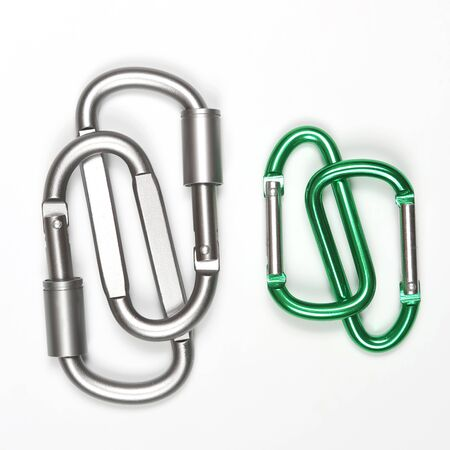 much bonded to each other aluminum carabiners. everyday tools