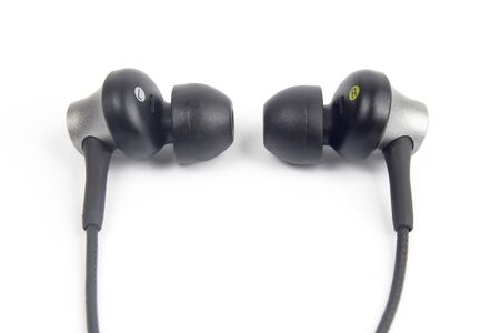 the audio headphones are small. modern electronic technologies