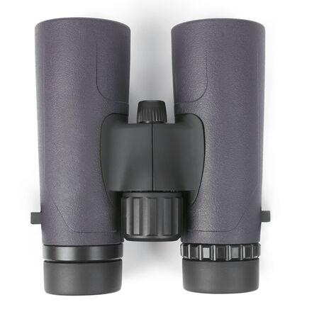 green binoculars on white background. optical device