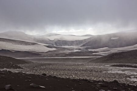 Glacier in the mountains of Iceland