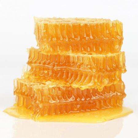 honeycomb on white background. Healthy and vitamin food