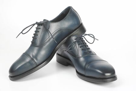 Classic men's shoes on white background. Leather Fashionable shoes for men