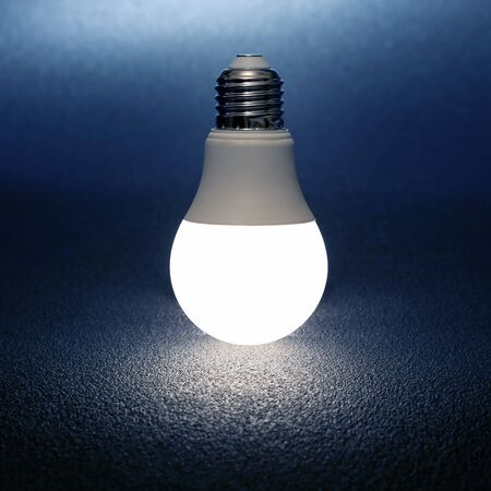 led bulb included on a dark background