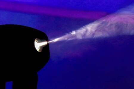 Farbflutlicht zum Leuchten im Dunkeln Standard-Bild