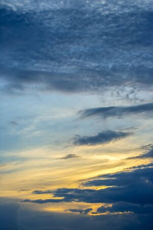 the expressive contrast of the clouds in the sky Archivio Fotografico