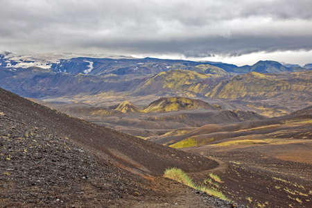 Beautiful mountain landscape in Iceland. Nature and places for wonderful travels