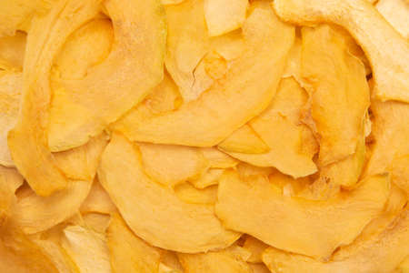 texture and background of dried melon slices. fruits and vitamins. Healthy food.