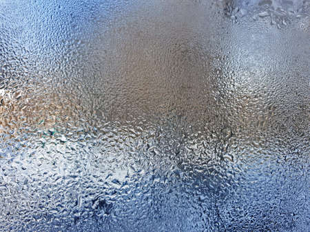 ice-frozen glass. background natural texture