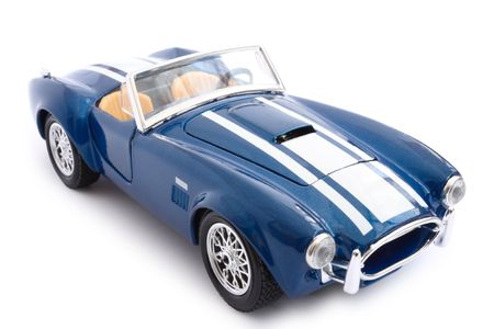 Single model car over white background