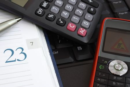 Office tools need for managers. Stock Photo